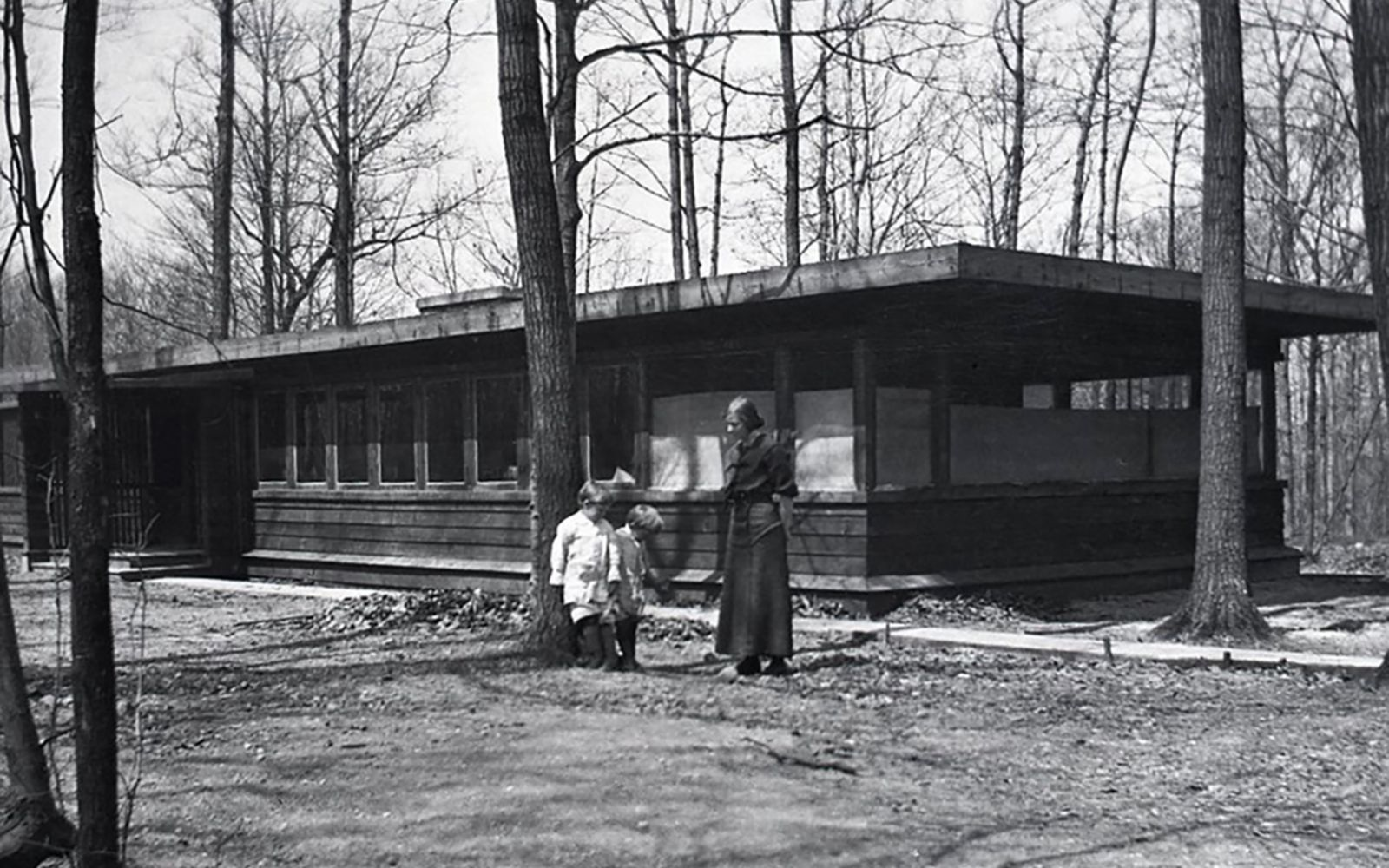 Booth Cottage Photo courtesy Frank Lloyd Wright Building Conservancy.
