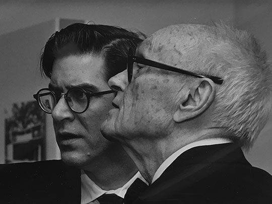 Terence Riley and Philip Johnson in 1992, unidentified photographer
